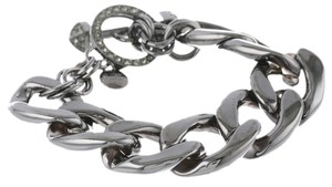 Juicy Couture Hematite Luxe Link Chunky Toggle Bracelet w Pave Link YJRU6641