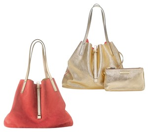 Tiffany & Co. Classy Tote in Coral/MetallicGold