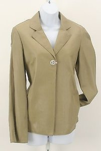 Worth Worth Moss Leather Silver Toggle Closure Split Cuff Detail Blazer Lb