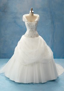 Alfred Angelo Ivory Satin and Tulle with Heavy 2011 Belle Gown 75521 Formal Wedding Dress Size 20 (Plus 1x)