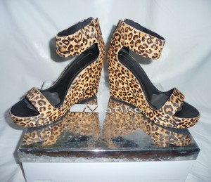 Matiko Leopard Pony Hair Sandals