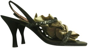 Nina Shoes BLACK BEADED Sandals