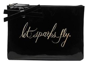 Kate Spade New York Let Sparks Fly Patent Leather Black Clutch