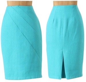 Eva Franco Pencil Glee Skirt Teal