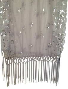 Silver sequined shawl