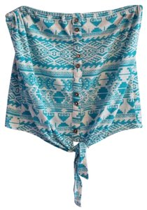 Kirra Tube Pacsun Tie Worn Top turquoise