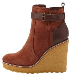 Tory Burch Wedge New Designer Winter Almond Boots