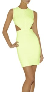Hervé Leger short dress Neon yellow on Tradesy