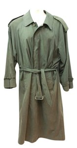 Burberry BURBERRYS' OF LONDON DARK GREEN TRENCH COAT 38 S