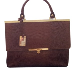 Blu Style Leather Satchel in Brown