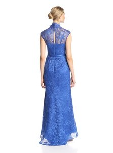 Mikael Aghal ROYAL New With Tags Lace Point Collar Gown Dress