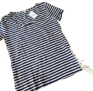 J.Crew Top Navy, White