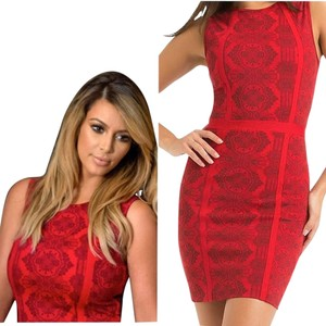 Kardashian Kollection short dress red on Tradesy