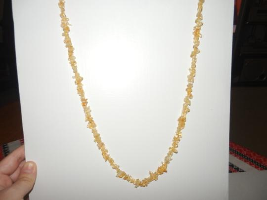Other Citrine Set - Gemstone Chips Necklace and Bracelet