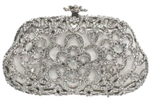 Natasha Couture Crystal Evening Silverstone Clutch