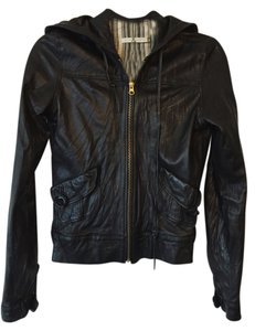 Mike & Chris Leather Hooded Leather Jacket