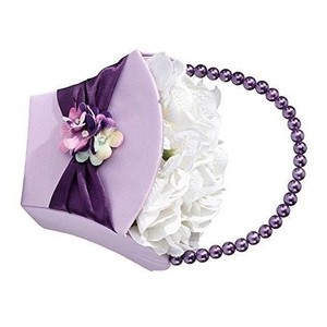Lillian Rose Purple Radiant Themed Wedding Flower Girl Basket