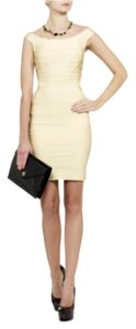 Hervé Leger short dress Off white on Tradesy