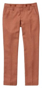 Anthropologie Vintage Style Wool Crop Tweed Capri/Cropped Pants Apricot