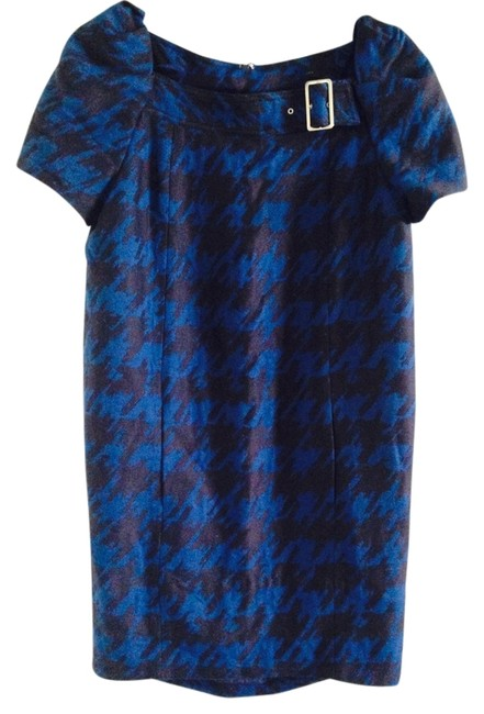 Preload https://img-static.tradesy.com/item/1155294/marc-by-marc-jacobs-blue-houndstooth-scribble-mid-length-workoffice-dress-size-8-m-0-0-650-650.jpg