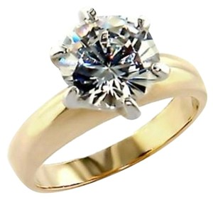 New Size 8, 4 CT Gold Plated CZ Ring
