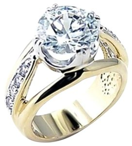 Other New Size 6, 3.25 CT Clear CZ Gold Ring