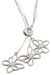 Other New 925 sterling silver hanging three butterfly necklace