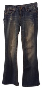 Refuge Jeans Mildly Distressed Boot Cut Jeans-Distressed