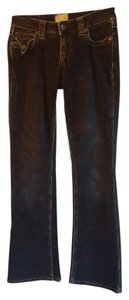 Marlow Awesome Pockets Corduroy Boot Cut Jeans-Distressed