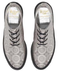 Dr. Martens Bev Byzantium Silk Ankle Silver Boots