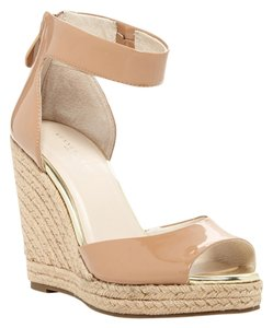 Kenneth Cole Nude Cork Patent Nude Patent Wedges