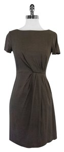 Theory short dress Taupe Short Sleeves on Tradesy