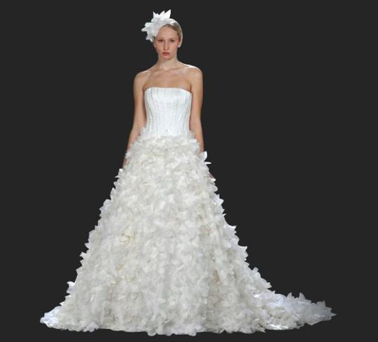 Cream Hibiscus Bridal Gown Formal Wedding Dress Size 4 (S)