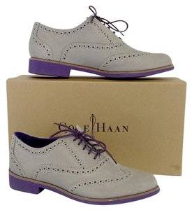 Cole Haan Grey Suede Alisa Oxfords Boots
