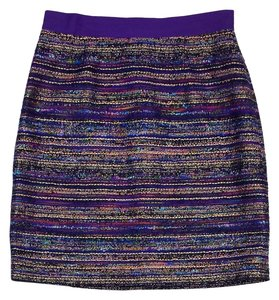 Kate Spade Purple Metallic Mini Mini Skirt