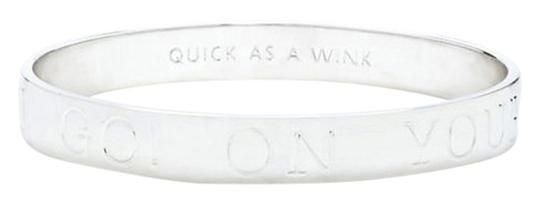 Kate Spade Kate Spade New York 'On Your Mark, Get Jet Set, Go' Idiom Bangle, Silver WBRU7841