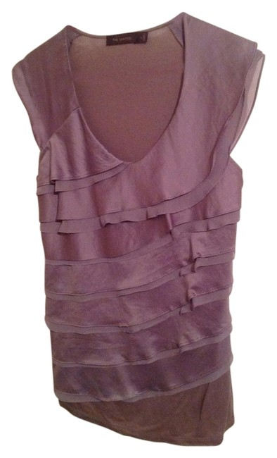 The Limited Ruffle Top Grey/Silver