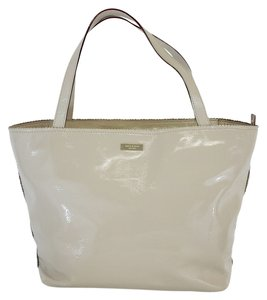 Kate Spade Beige Patent Leather Tote