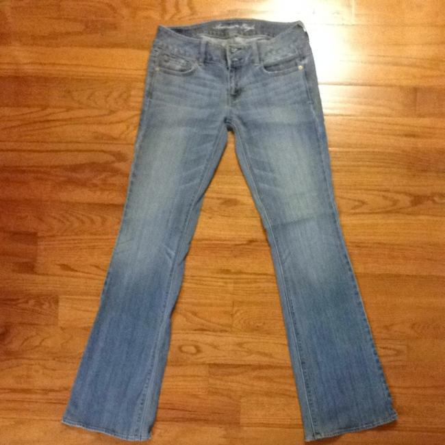 Item - Blue Distressed Artist Boot Cut Jeans Size 32 (8, M)