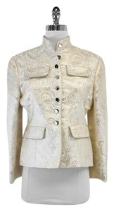 W118 by Walter Baker Cream Silver Paisley Print Jacket