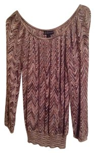 INC International Concepts Top Brown/Gold