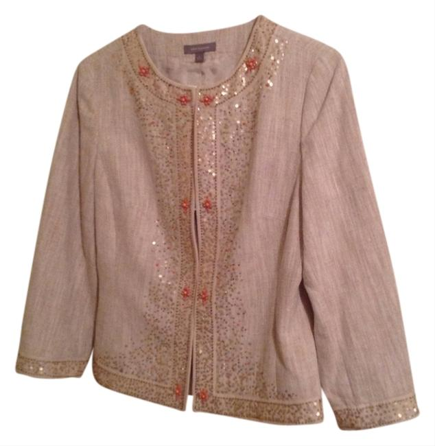 Ann Taylor Beads Sequin Shell Blazer