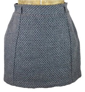 Forever 21 Tweed Polka Dot Mini Mini Skirt Gray