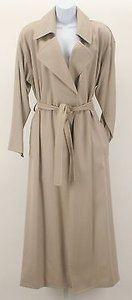 Anne Klein Ii Wool Blend Two Piece Belted Maxi Wrap Coat B277 Taupe Jacket