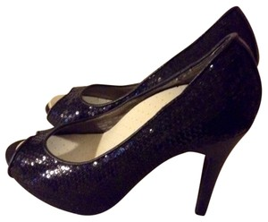 Wet Seal Glitter Black Pumps