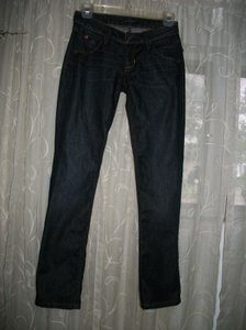 Hudson Jeans Style #nw429dcl Cut#6465 Color Emer Blue Straight Leg Jeans-Dark Rinse