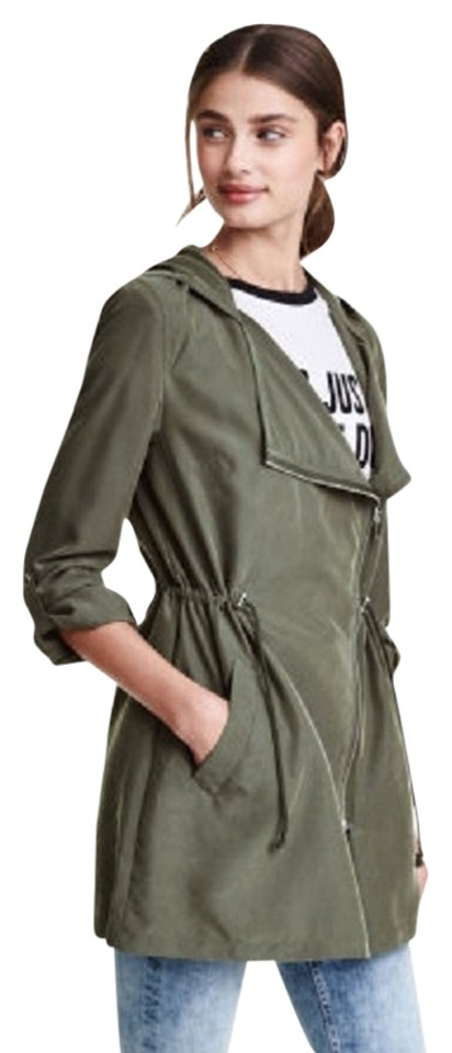 the best attitude 7729c 2d801 Olive Parka with Hood Jacket