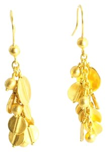 Yossi Harari Yossi Harari 24K Yellow Gold Butterfly Vine Drop Dangle Long Cluster Earrings