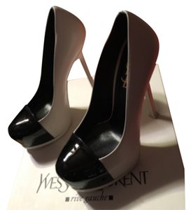 Saint Laurent White and black Platforms