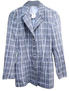 Escada Checkered Raincoat